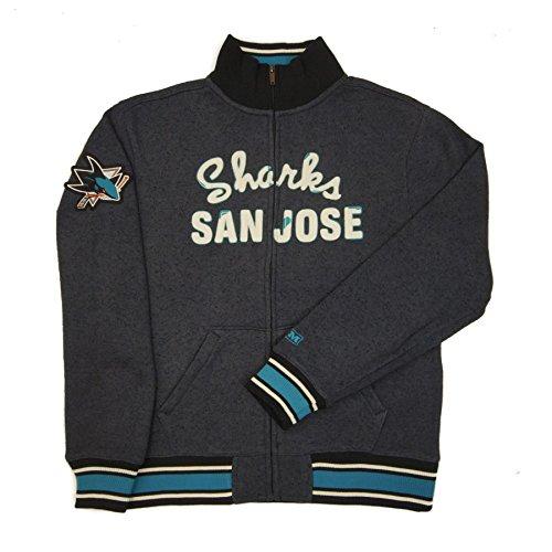 (NHL San Jose Sharks CCM Fleece Track Jacket, X-Large)