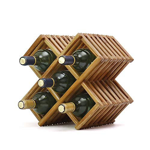Artículos y equipo de servicio para la restauración IN THE DISTANCE Wine Rackcreative Geometric Wine Rack Metal Sencillo Hogar UVA Wine Rack Restaurante Sala de Estar Bar Wine Cabinet Wine Display A Botelleros
