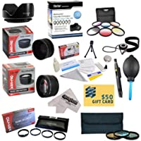 25 Piece Advanced Lens Package For The Panasonic Lumix Digital DMC-FZ28 DMC-FZ35 DMC-FZ38 DMC-FZ18 Digital Cameras Includes 0.43X HD2 Wide Angle Panoramic Macro Fisheye Lens + 2.2x HD AF Telephoto Lens + 3 Piece Pro Filter Kit (UV, CPL, FLD) + 6 Piece Multi-Colored Graduated Filter Set + 5 PC Close-Up Set (+1, +2,+4 with 10X Macro Lens) + Flower Lens Hood + Tube Adapter + Deluxe Lens Cleaning Kit + 5PC Lens Cleaning Pen + Snap On Lens Cap + Air Blower Cleaner + Lens Cap Keeper Holder + LCD
