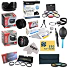 25 Piece Advanced Lens Package For The Nikon D7100 D7000 D5000 D5300 D5200 D5100 D3300 D3200 D3000 D40 D40X D50 D60 D70 D70S D80 D90 D100 D200 D300 D700 (Nikon 18-200mm & 18-55mm Lenses) Includes 52MM 0.43X HD2 Wide Angle Panoramic Macro Fisheye Lens + 52MM 2.2x HD AF Telephoto Lens + 52MM 3 Piece Pro Filter Kit (UV, CPL, FLD) + 52MM 6 Piece Multi-Colored Graduated Filter Set + 52MM 5 PC Close-Up Set (+1, +2,+4 with 10X Macro Lens) + 52MM Flower Lens Hood + Deluxe Lens Cleaning Kit + 5PC Lens