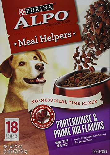 Purina ALPO Meal Helpers Porterhouse & Prime Rib Flavors Dog Food - Pack of 18 Pouches- NET WT 72 OZ