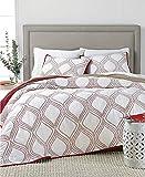 Martha Stewart Collection Gramercy Gate Full Queen Cotton Reversible Quilt Red White