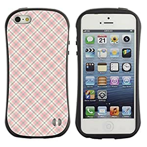 ArtSpace Premium Hybrid Back Case Cover Apple iPhone 5 / 5S ( Checkered Pattern )