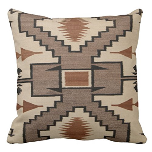 Emvency Throw Pillow Cover Navajo Native American Indian Storm Pattern Decorative Pillow Case Tribal Home Decor Square 18 x 18 Inch Cushion Pillowcase