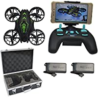 Blomiky 515W WIFI UFO Altitude Quadcopter Drone With FPV Camera With Extra 2 Battery and Carrying Case 515W Green with Box