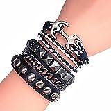 Friendship Gift Black Ropes Bracelet Women Wrap 6 Color the Christmas Gift