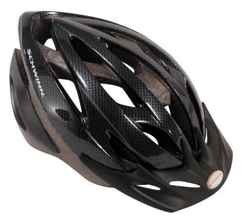 Schwinn Thrasher Lightweight Microshell Bicycle Helmet Featuring 360 Degree Comfort System with Dial-Fit Adjustment, Adult, Carbon ()