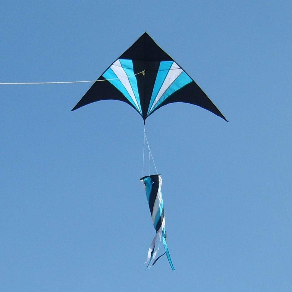 YPKHHH Nouveau Plein air de Plein air créatif Bleu + Noir avec Roue à Lignes 400m Ligne 150cm + 80cm