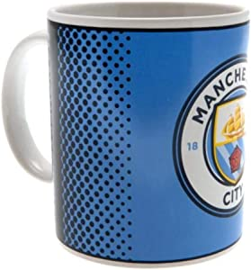 Official Manchester City FC Fade Design Ceramic Mug