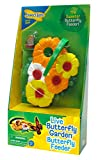 Insect Lore Butterfly Feeder Kit – Garden Toy Includes Nectar Reservoirs, Butterfly Landing Pads, and Red Nectar Wicks