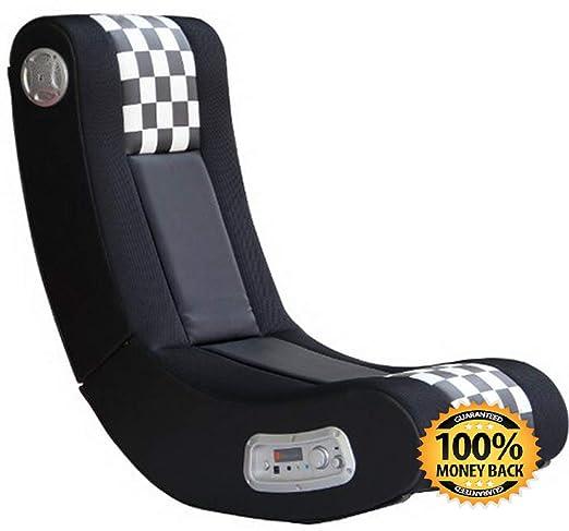 ArtMuseKit 5171101 Drift Wireless 2.1 Sound Gaming Chair, Black/White Checkered Flag