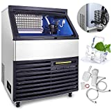 Happybuy Ice Making Machine Commercial 286lbs/24h Ice Maker Cube...