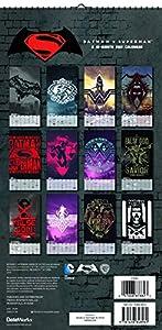 "Trends International 2017 Mini Poster Calendar, September 2016 - December 2017, 6"" x 12"", Batman v Superman: Dawn of Justice at Gotham City Store"