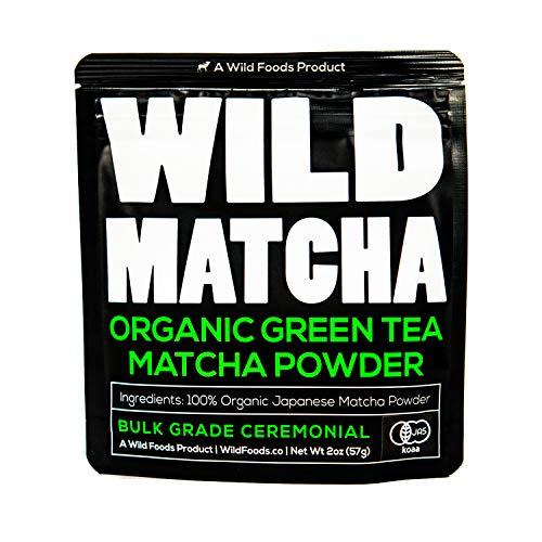 Organic Matcha Green Tea Powder, Wild Matcha #2 Ceremonial Grade 3, Authentic Japanese Matcha Grown In The Mountains of Kyoto, Japan, JAS Certified Organic (2 ounce - 56g - Economy Grade)