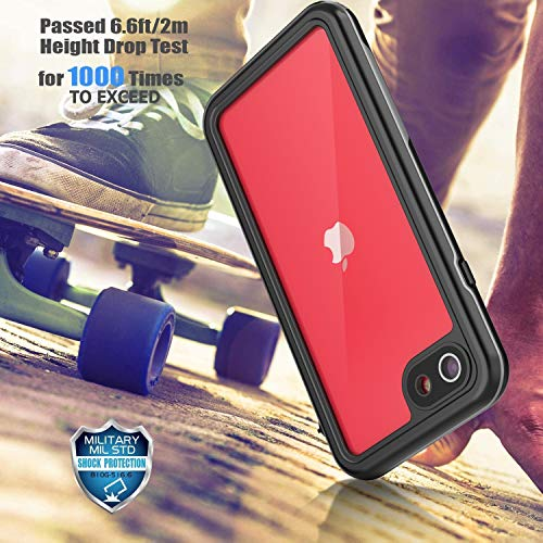 SPIDERCASE iPhone SE 2020/iPhone 7/iPhone 8 Waterproof Case, Built-in Protector Full Body Rugged Case, IP68 Shockproof…