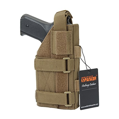 EXCELLENT ELITE SPANKER Tactical Adjustable Pistol Holster for M1911 G17 G18 G19 G26 G34 XD-45acp CZ P-10C(Coyote - Holster Pistol Modular