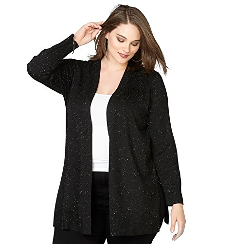 Avenue Women's Speckled Cardigan, 18/20 Black