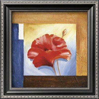 Passionate Poppies I Framed Art Poster Print by Alfred Gockel, 12x12 - Alfred Gockel Flowers