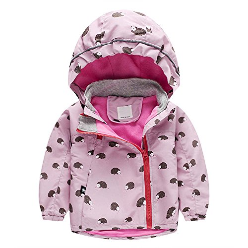 Wenjuan Outerwear Trench Quilted Windbreaker Coat Jacket and Velvet Hoodie Cartoon Print Autumn Clothes for Newborn Infant Toddler Kids Baby Girls (Pink, 5T) from Wenjuan-Clothing Shoes & Accessories Blouse