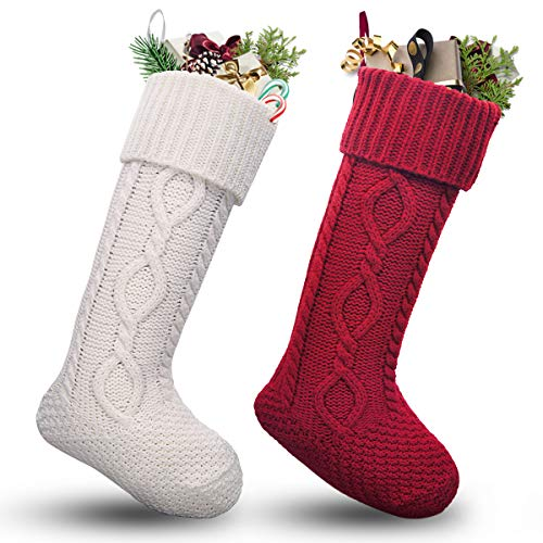 Top recommendation for christmas stockings knit monogram