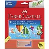 Lápis de Cor EcoLápis Triangular 24 Cores e 1 Apontador com Depósito, Faber-Castell