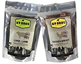 K9 Bros Two Pack Liver of Lamb and Chicken Breast Jerky Dog Treats Made in The USA Human Grade