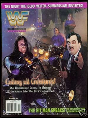 WWF MAGAZINE-------------NOVEMBER 1995 ISSUE------------UNDERTAKER/PAUL  BEARER COVER: wwf: Amazon.com: Books