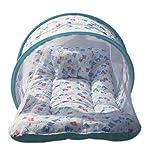 Amardeep Baby Mattress with Mosquito Net Sleeping Bag Combo (Blue)