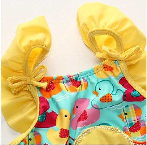 BEFULY 2018 Beach Swimwear Baby Girls Cute Yellow Duck One Piece Swimsuit 18M-3T