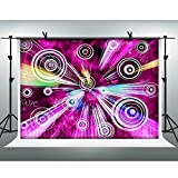 FHZON 10x7ft Purple Light Backdrop Photography Abstract Music Sound Background Theme Party Photo Video Prop YouTube Backdrops XCFH486