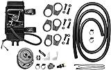 Jagg 751-FP2600 Vertical Frame-Mount 10 Row Fan Assisted Oil Cooler Kit - Black