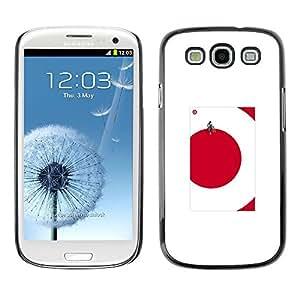 Be Good Phone Accessory // Dura Cáscara cubierta Protectora Caso Carcasa Funda de Protección para Samsung Galaxy S3 I9300 // red dot cube