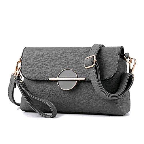 Pu Mujer Bolsos Sólidos Bao Moda Diagonales Gray Bolsas De Blue Iq7CwqxU