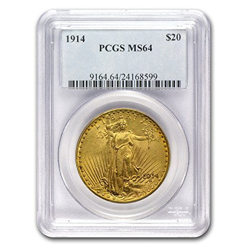 1914 $20 St. Gaudens Gold Double Eagle MS-64 PCGS G$20 MS-64 PCGS