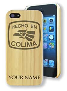 Bamboo Case/Cover for iPhone 5/5S - HECHO EN COLIMA - Personalized for FREE (Click the CONTACT SELLER link after purchase and send a message with your engraving request)