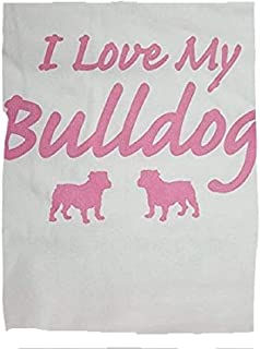 product image for I Love My Bull Dog Night Shirt White and Pink
