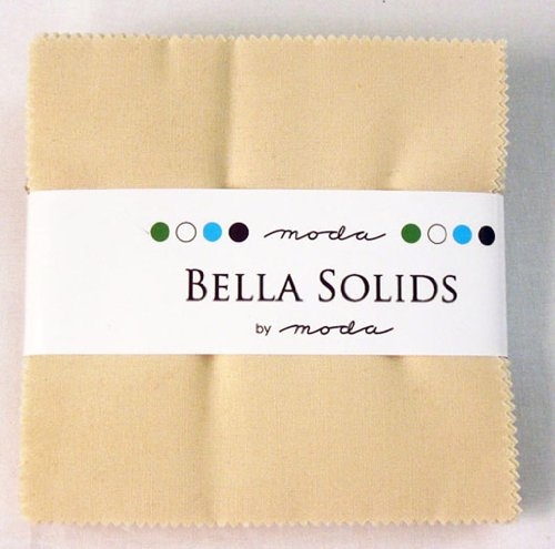 Bella Solids Natural Charm Pack 42 5-inch Squares Moda Fabrics 9900PP 12