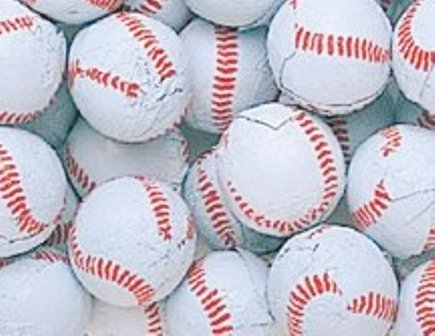 Smarty Stop Chocolate Balls ~ Foil Wrapped Chocolate Candy ~ (Baseballs, 1LB)]()