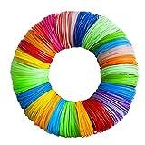 3D Pen Filament Refills 20 Colors 656 Linear Feet - 1.75mm PLA Filament - 33 Foot Lengths Each