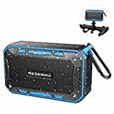 Reserwa Bluetooth Speakers with Bike Mount IPX7 Waterproof Outdoor Speaker TWS Pairing Function, Louder Volume 6W, Enhanced Bass Wireless Speaker Built-in Mic Portable Speaker for Beach Shower (Blue)
