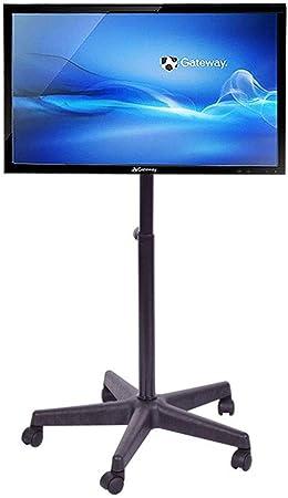 HANG Soporte para TV rodante Carrito de TV móvil, para Pantallas Planas de Plasma LCD de 14-40 Pulgadas LED 360º de Giratorio con Ruedas Piso móvil Inicio: Amazon.es: Hogar