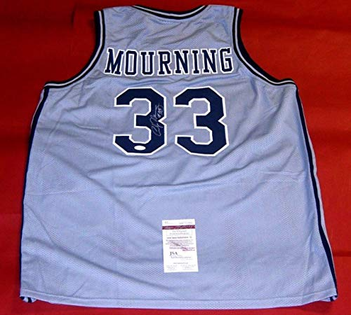 d647fbae3c3b 1993 NBA Starting Lineup - Alonzo Mourning - Charlotte Hornets. ALONZO  MOURNING AUTOGRAPHED GEORGETOWN HOYAS JERSEY JSA ZO