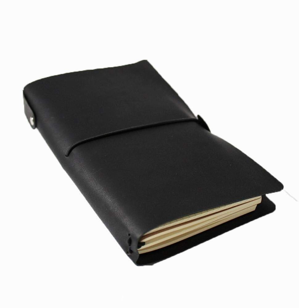 Small Scratch Pad,Leather Notebook Business Notepad Stationery Travel Diary Book Manual Retro Handbook,17x10cm