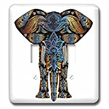 3dRose lsp_252088_2 2 Decorative India Elephant Colorful-Double Toggle Switch