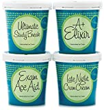 Student Study Aid Ice Cream Gift - eCreamery Gourmet Specialty Handcrafted Premium Ice Cream 4 Pack - Perfect for College Exams, Finals Week, Studying for big Tests