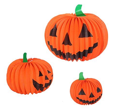 Halloween Pumpkin Paper Lantern Table Centerpiece Jack-O-Lantern Party Decorations - 6 Pack (Halloween Tabletop)