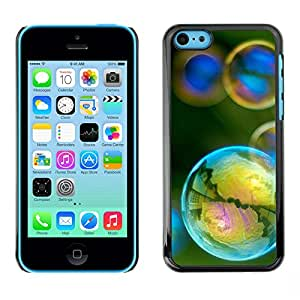 LASTONE PHONE CASE / Carcasa Funda Prima Delgada SLIM Casa Carcasa Funda Case Bandera Cover Armor Shell para Apple Iphone 5C / Cool Reflection Iridescent Yellow Teal Green