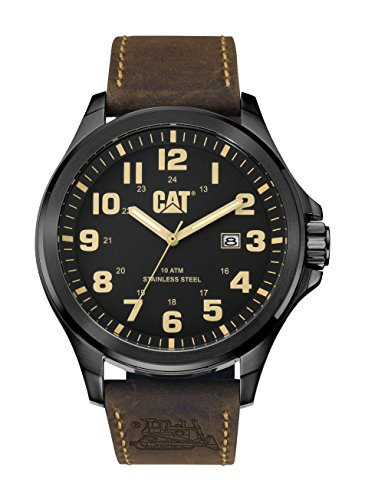CAT WATCHES Men's 'Operator Date' Quartz Stainless Steel and Leather Automatic