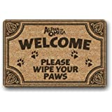 Custom Funny Quotes Welcome Please Wipe Your Paws Durable Heat-resistant Machine-washable Indoor and Outdoor Doormat 40x60 cm