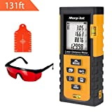 131ft Laser Measure - Morpilot Laser Tape Measure with Target Plate & Enhancing Glasses, Laser Measuring Device with Pythagorean Mode, Measure Distance, Area, Volume Calculation